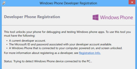 Developer registration