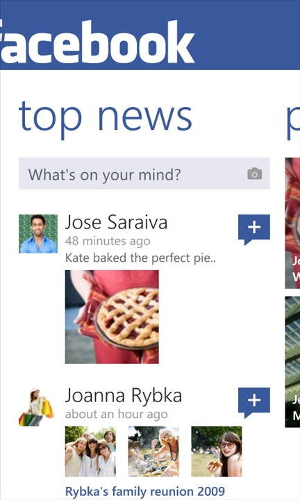 Facebook 2.2 on Windows Phones