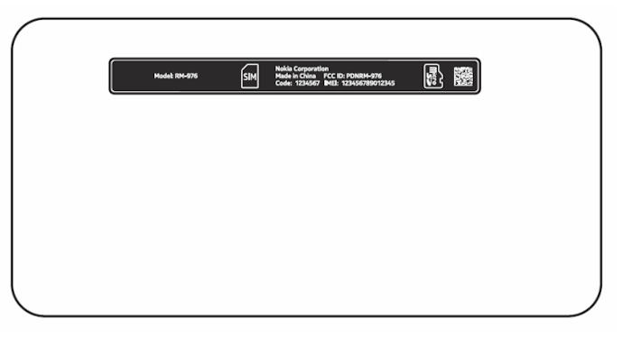 Lumia 630 label FCC