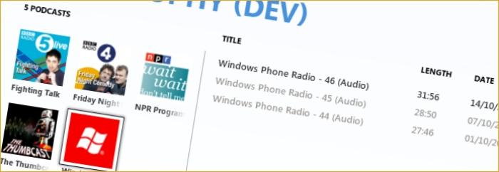 Windows Phone Radio in Zune PC
