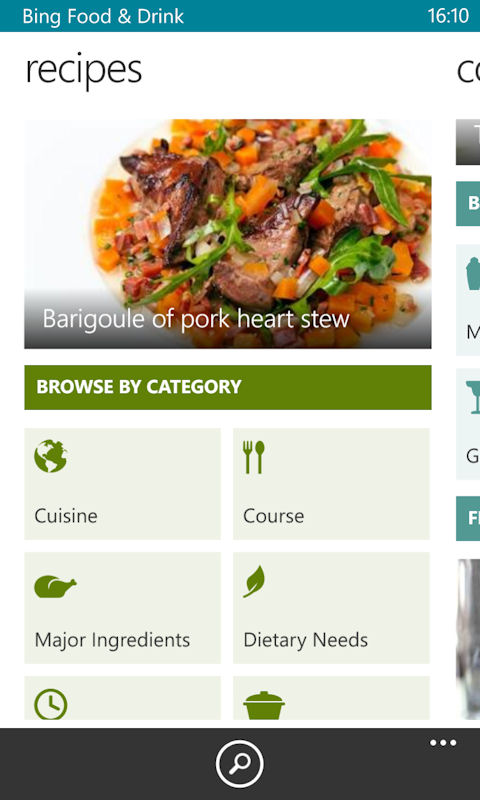 Bing food drink app now available in beta for windows phone 8 forumfinder Gallery