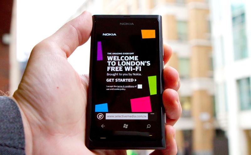 Nokia London WiFi login page