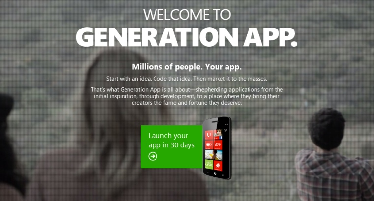 Generation App splash page