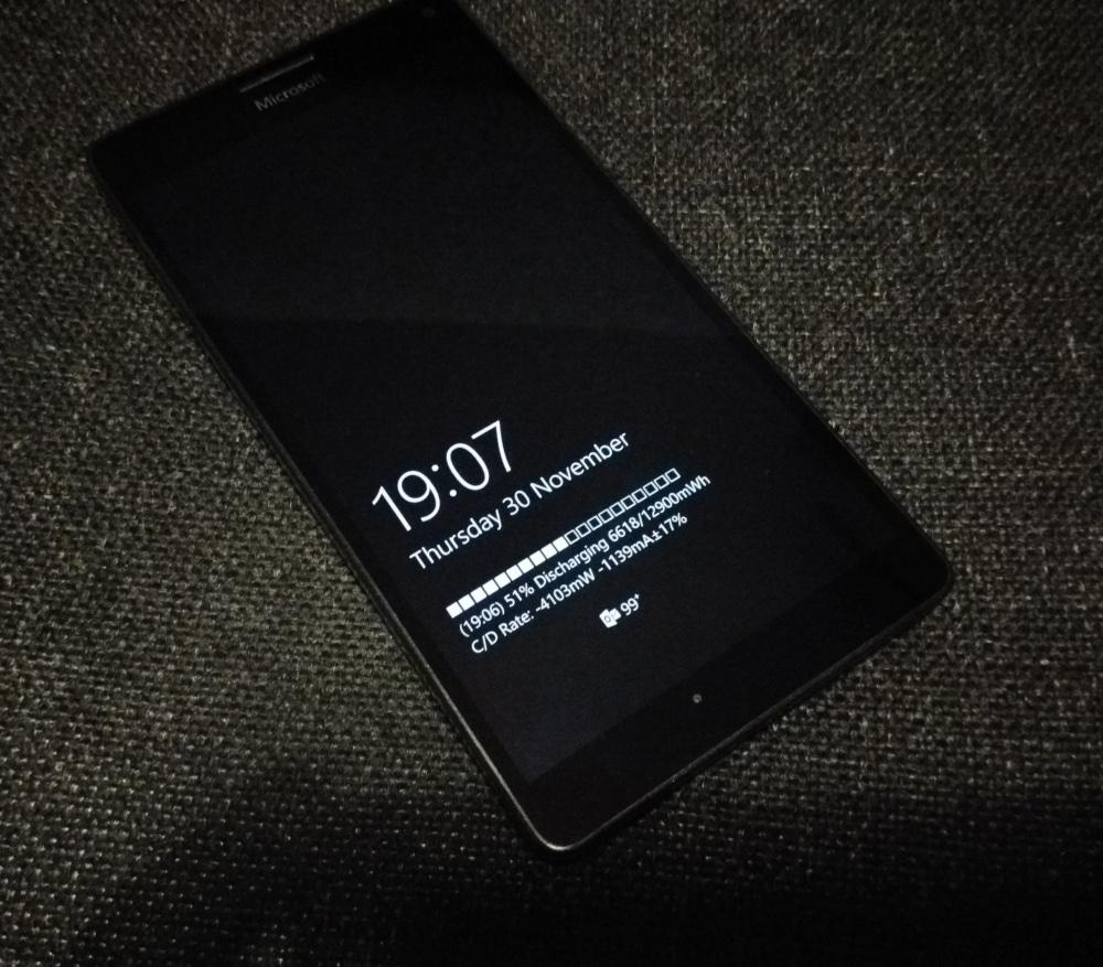 Glance screen battery