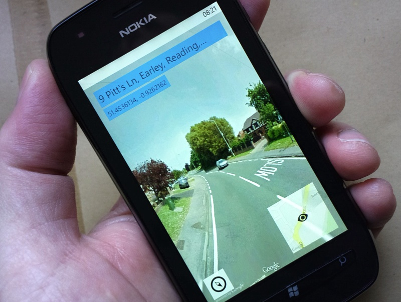 gMaps Pro's StreetView in action