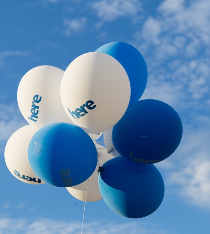 HERE balloons
