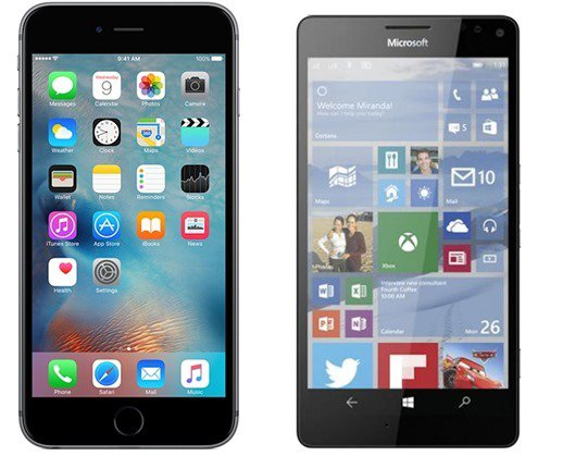 iPhone 6s Plus vs Lumia 950 XL