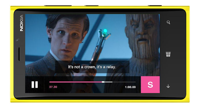 BBC iPlayer on Windows Phone mockup