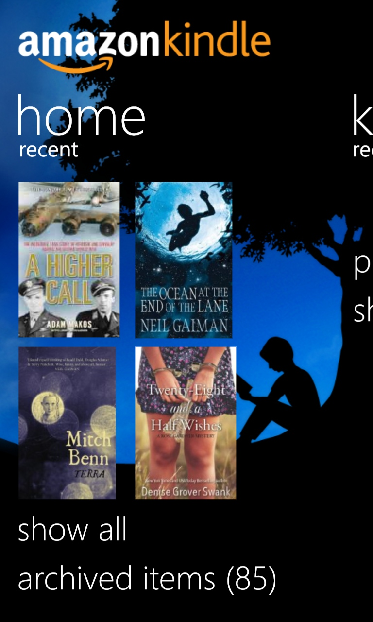 Kindle on Windows Phone