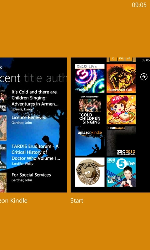 Kindle v1.2 on Windows Phone