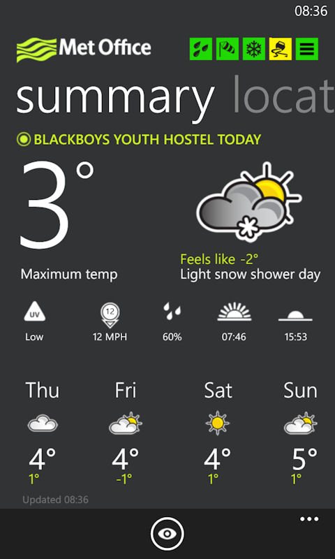 Met office uk weather review all about windows phone - Www met office weather forecast ...