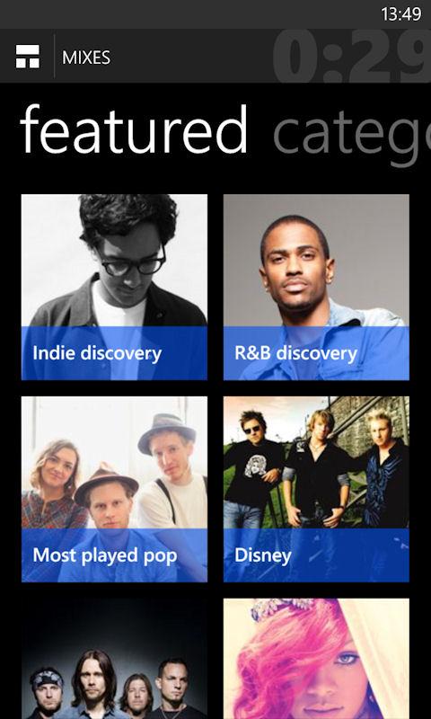 MixRadio 4.3 update