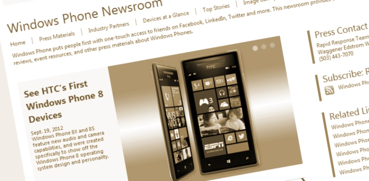 Microsoft's Windows Phone newsroom