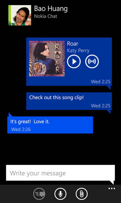 Nokia Chat Music