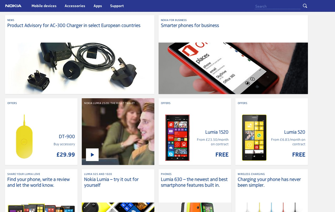 nokia.com today