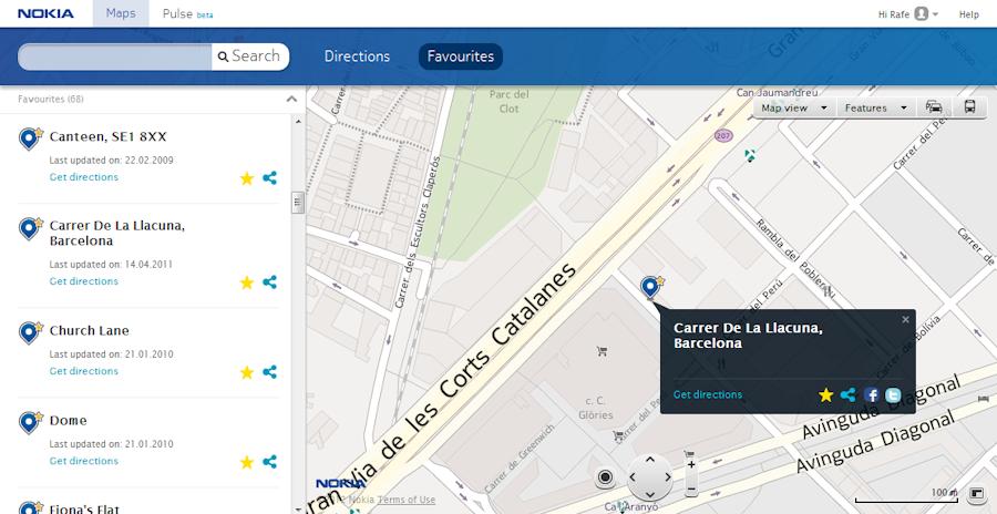 Nokia Maps web