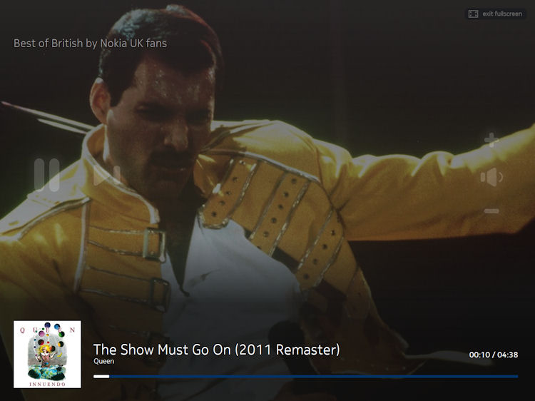 Nokia Music+ HTML 5 player