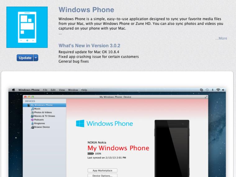 Windows Phone on OSX updated
