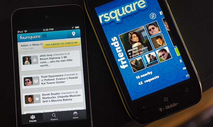 FourSquare on iOS and WP