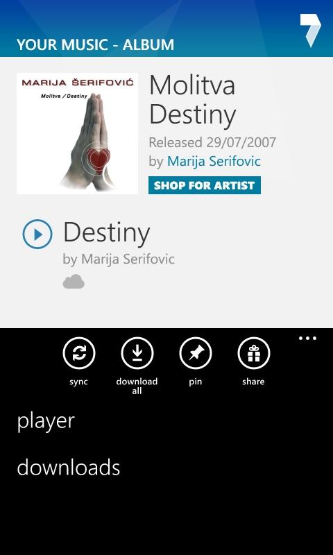 7digital on Windows Phone 8