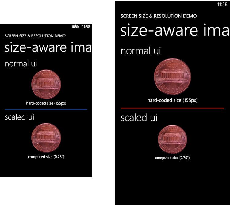 Scaled UI