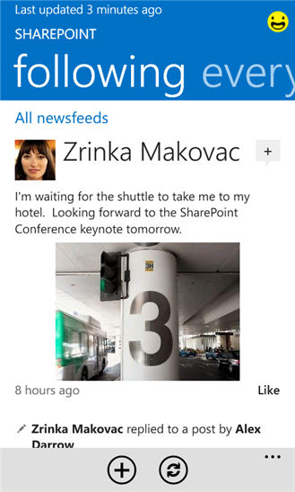 Sharepoint app screenshot