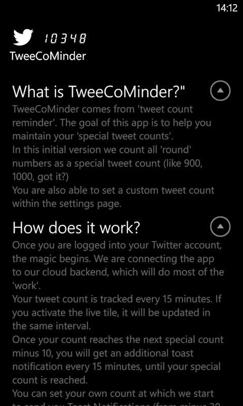 TweeCoMinder