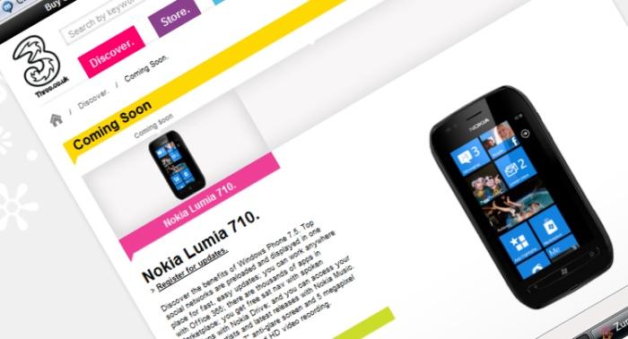 Nokia Lumia 710 on Three
