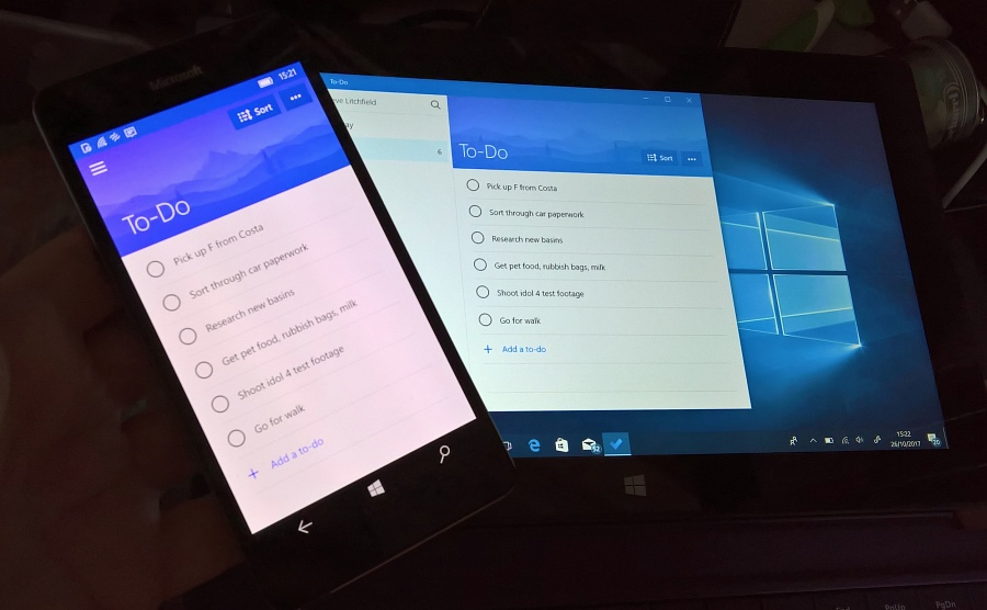 Microsoft To-Do UWP updated, phone and Surface now in sync