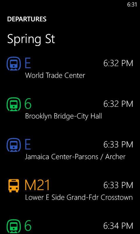 HERE Transit screenshot