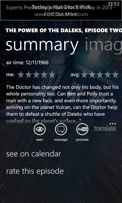 TVShow on Windows Phone
