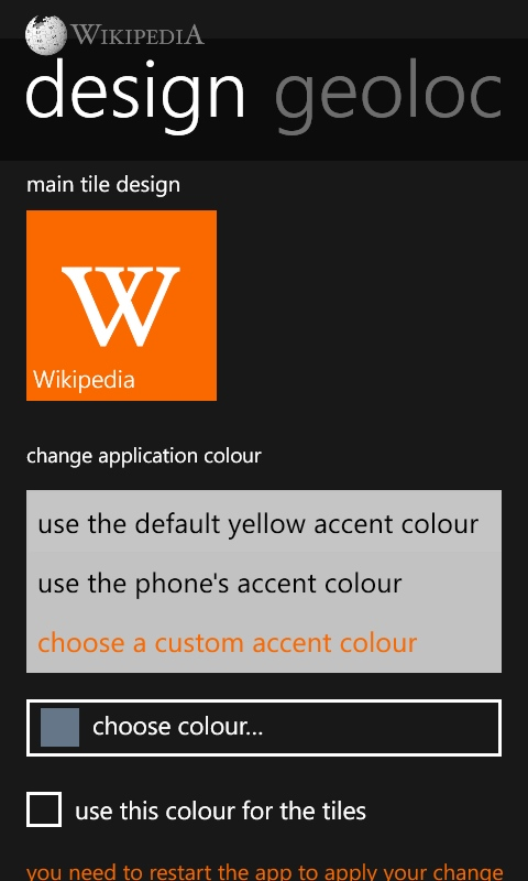 Wikipedia for Windows Phone