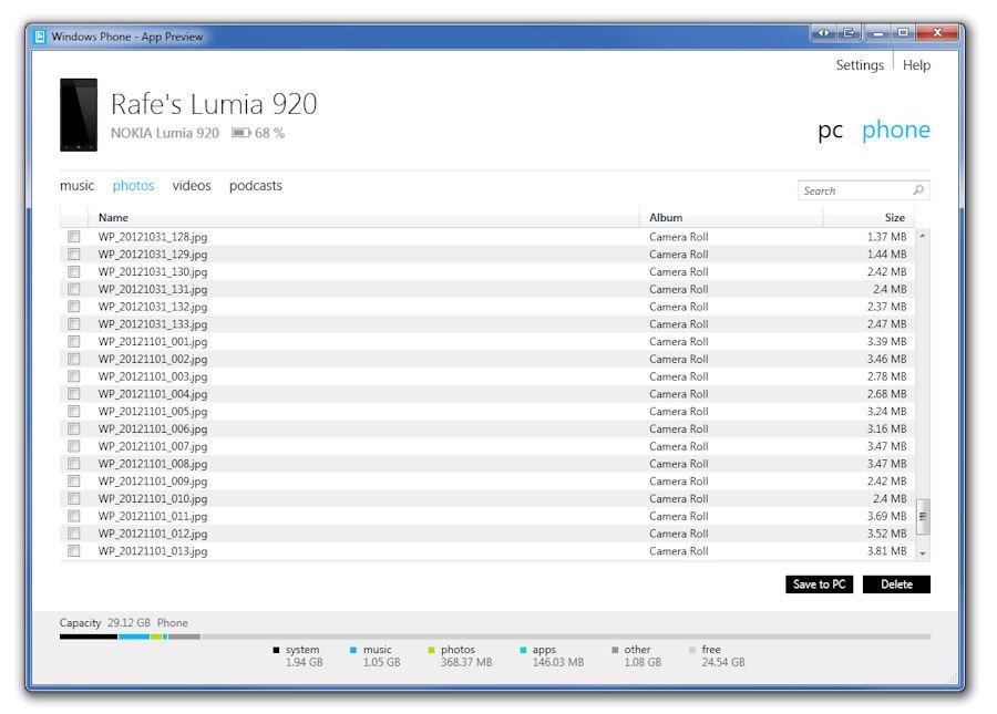Windows 7 app