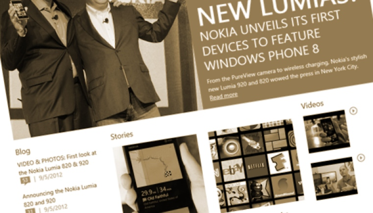 The new Windows Phone homepage