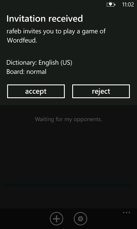 WordFeud on Windows Phone
