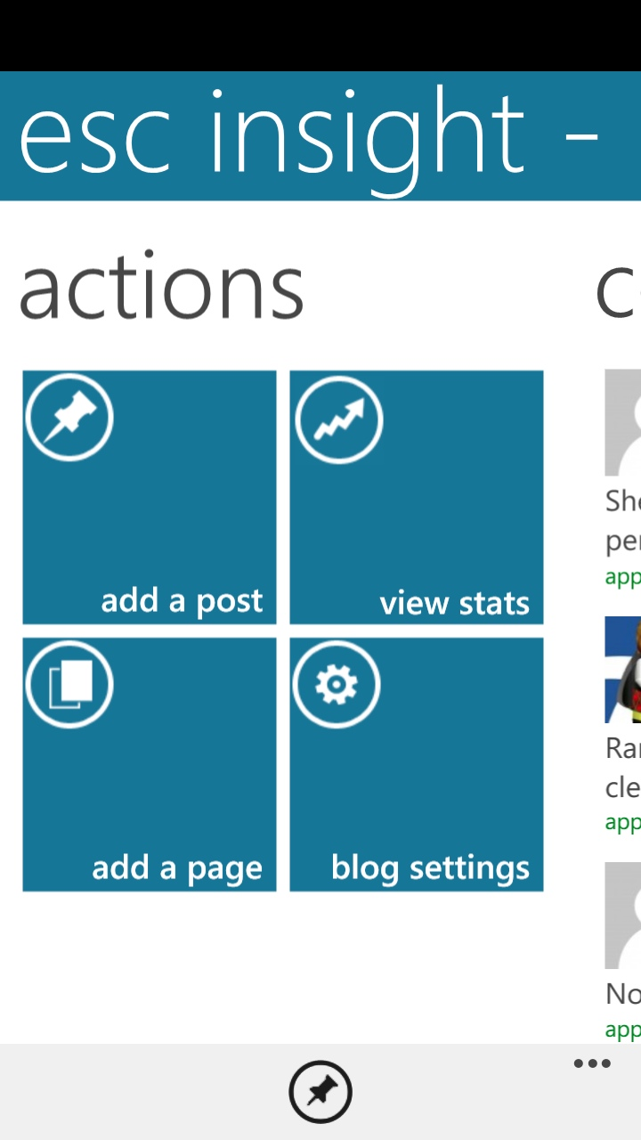 Wordpress 1.8 on WP8