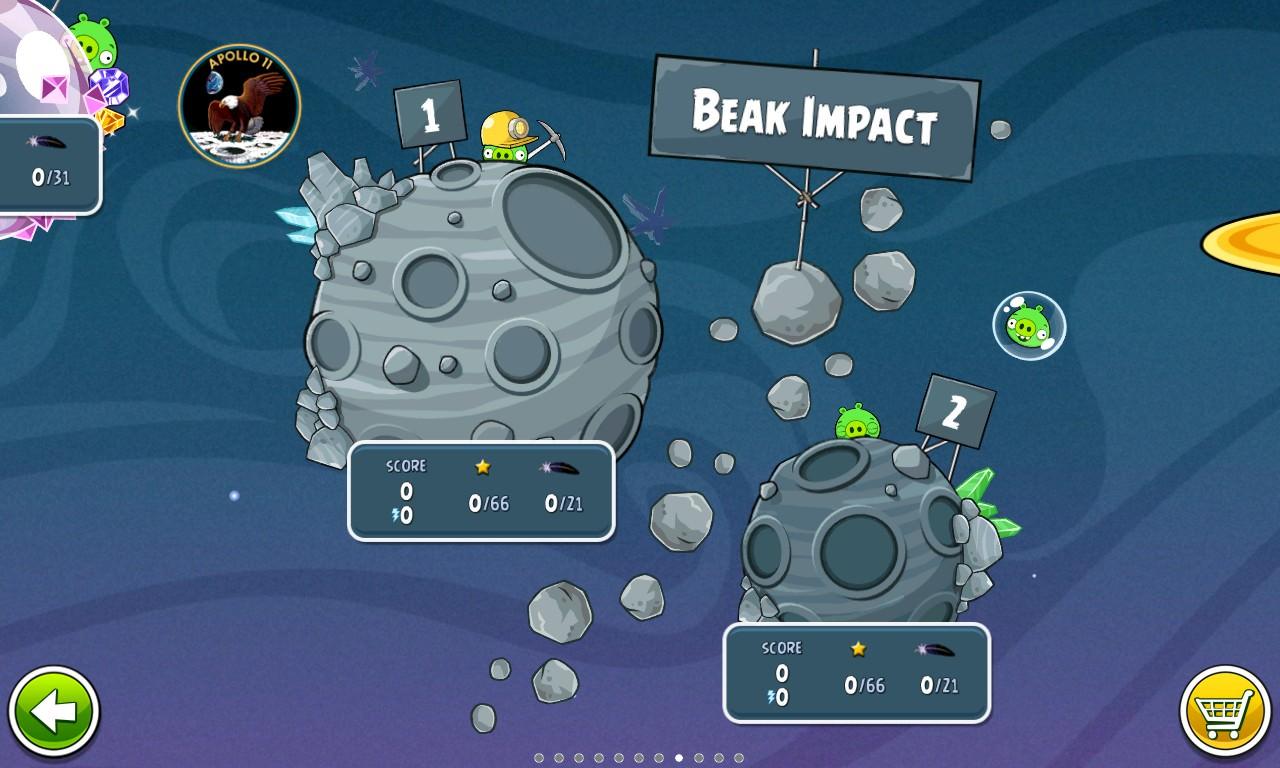 Beak Effect screenshot, Angry Birds Space