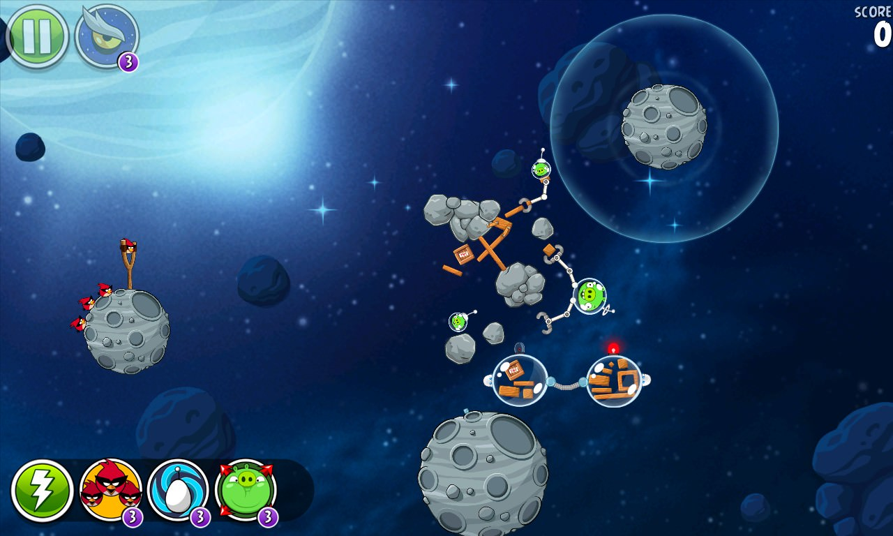 Beak Effect screenshot, Angry Birds Space