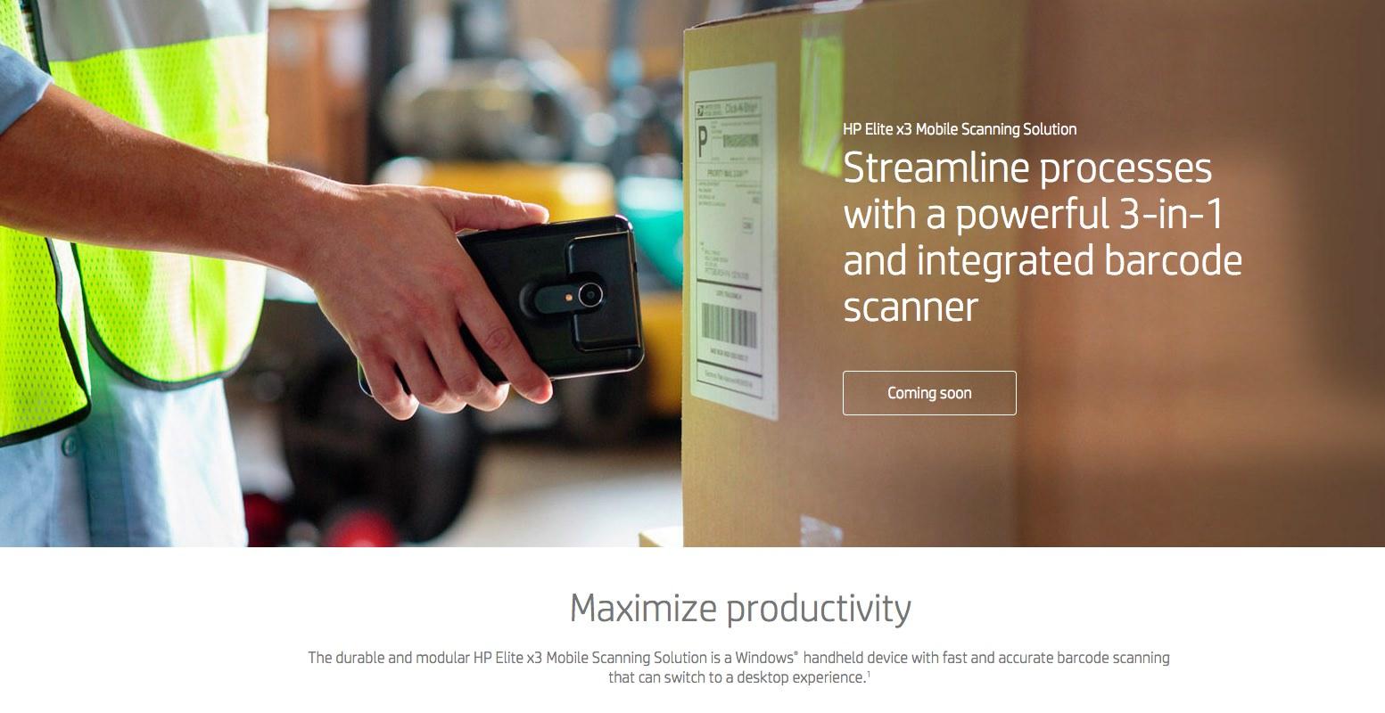 Elite x3 barcode scanner