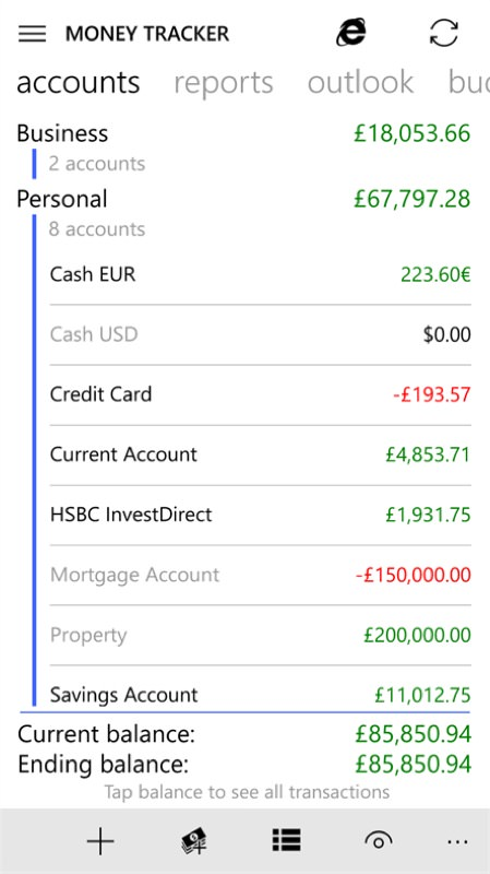 Screenshot, Money Tracker Pro