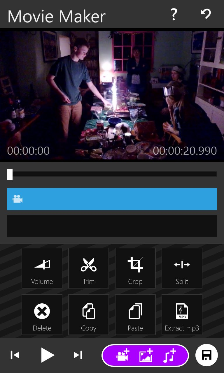Screenshot, Movie Maker 8.1