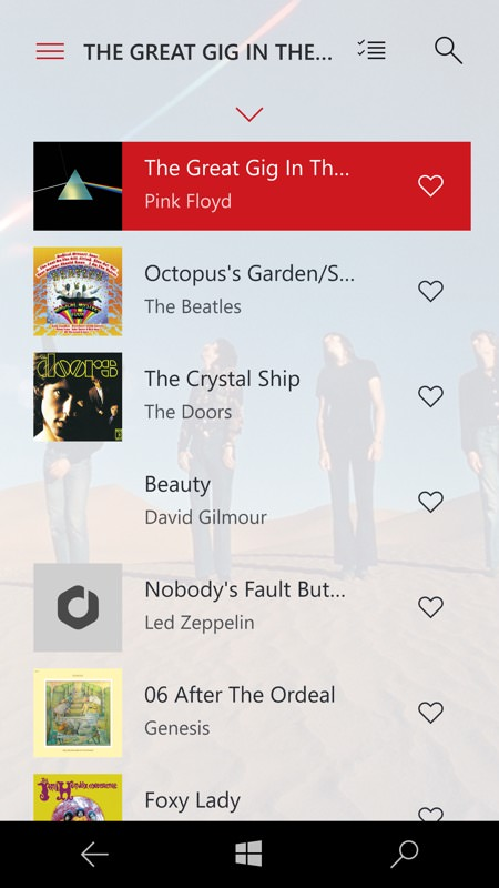 Screenshot, Media Player for Google Play Music