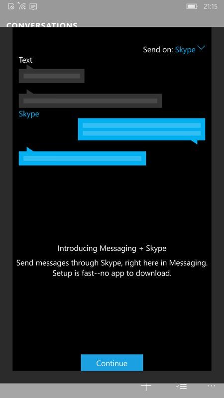 Screenshot Messaging Skype Beta