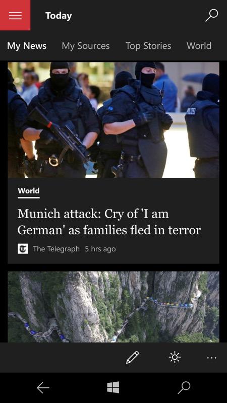 Screenshot, MSN News
