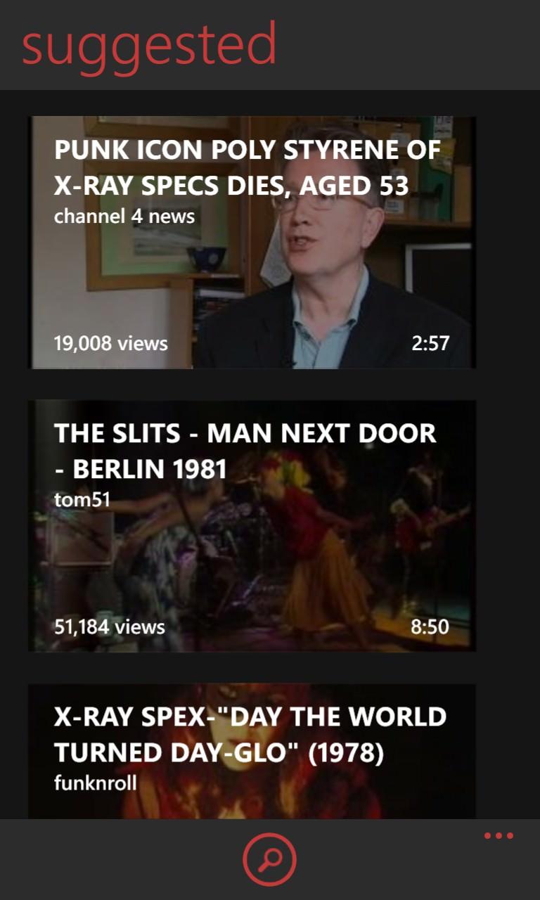 Screenshot, myTube