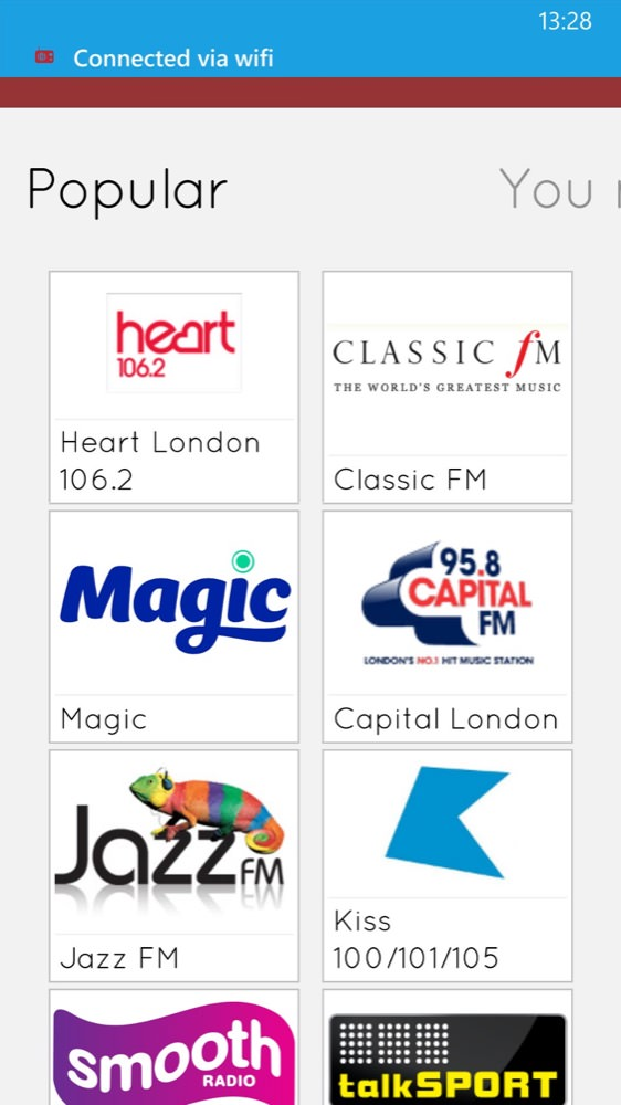 Screenshot, myTuner Radio