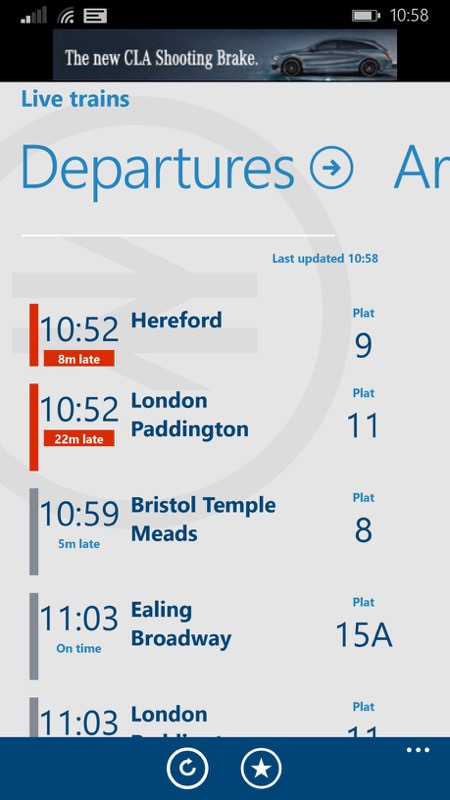 Screenshot, National Rail
