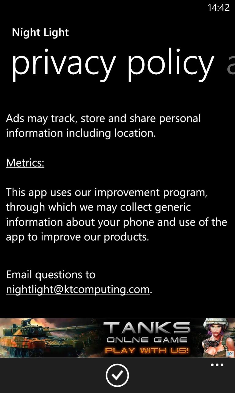 Screenshot, Night Light