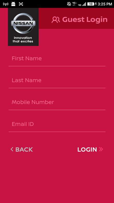 Screenshot, Nissan Connect