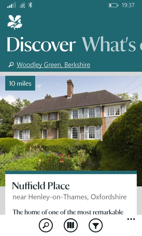 National Trust screenshot